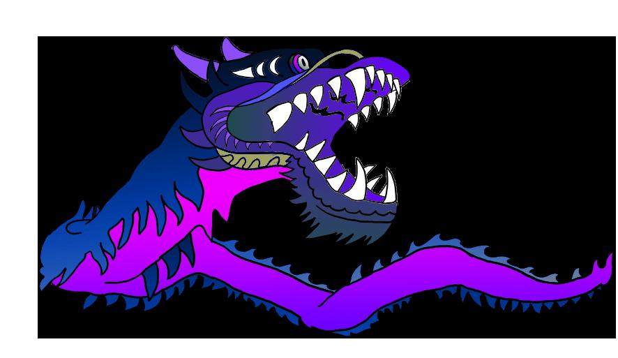 purple Chinese dragon