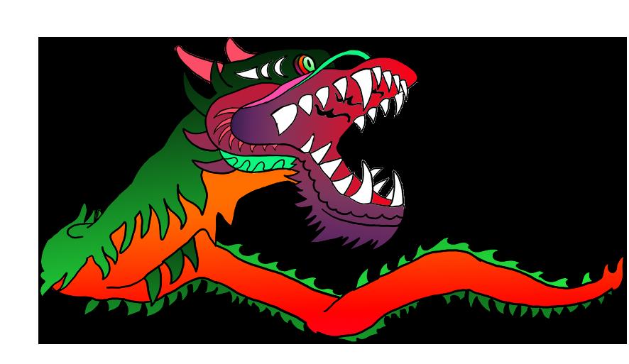 Chinese dragon wonderful colors