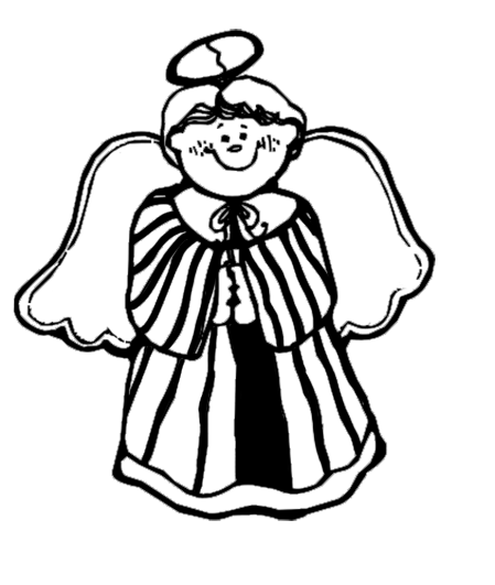 Christmas angel sketch
