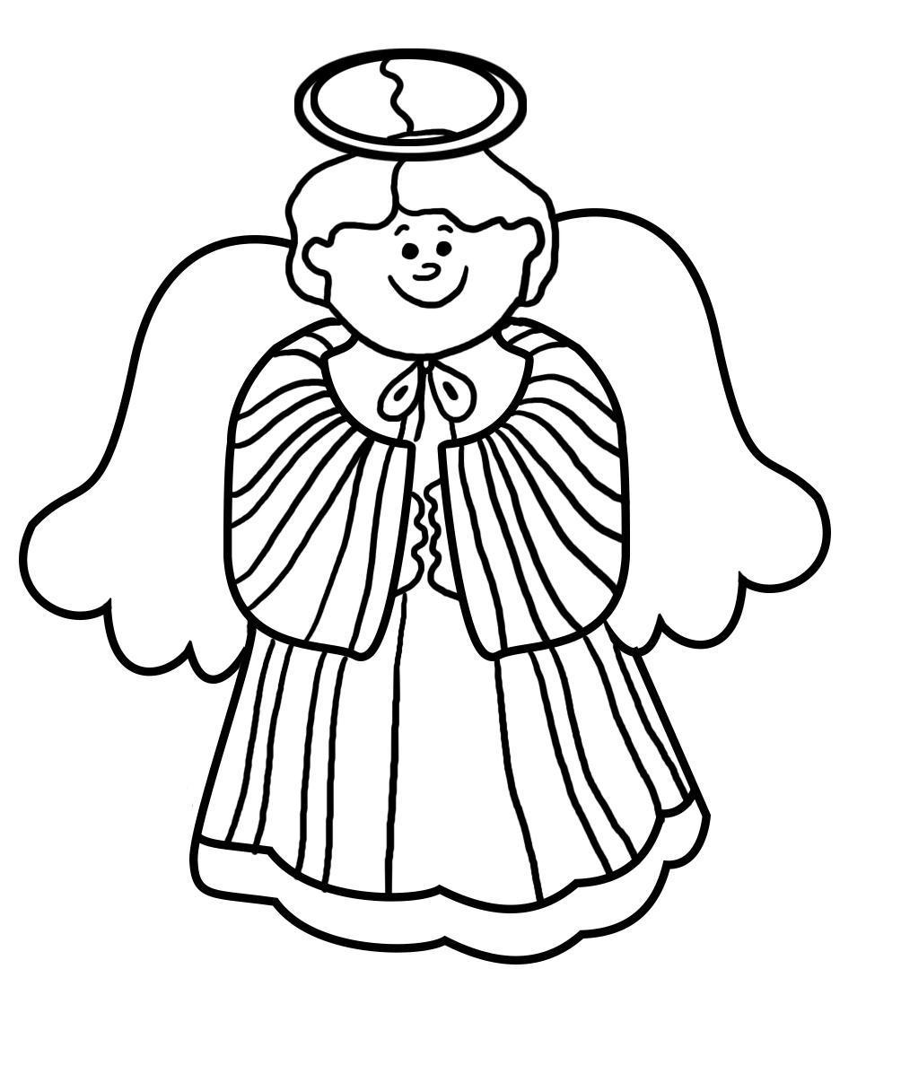 Christmas angel for coloring
