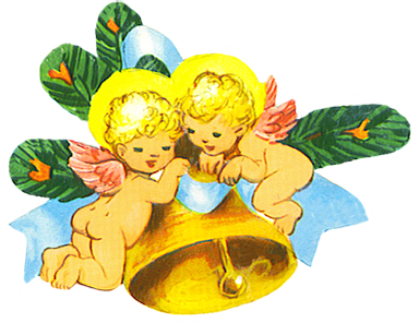 Christmas angels with bell