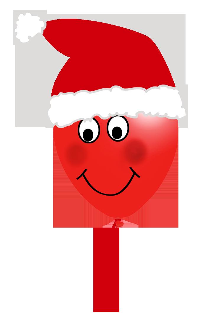 Christmas balloon face