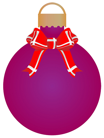 Christmas bauble ribbons and bow