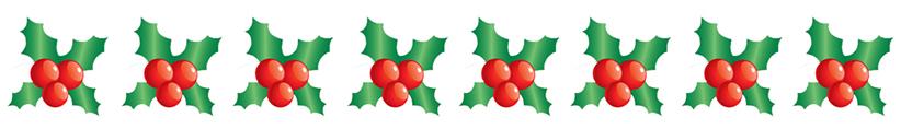 christmas clip art borders holly