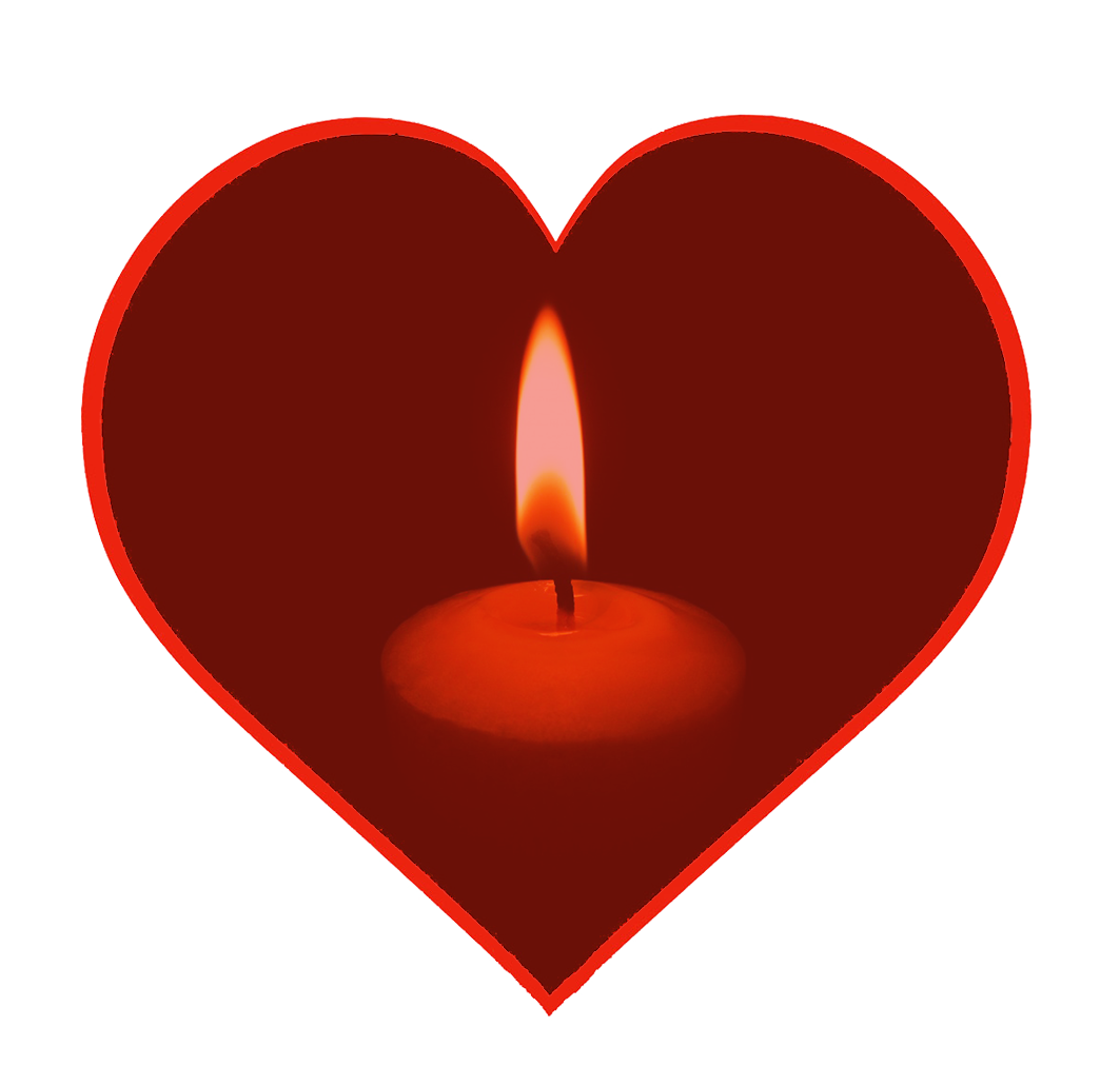 Christmas candle in heart