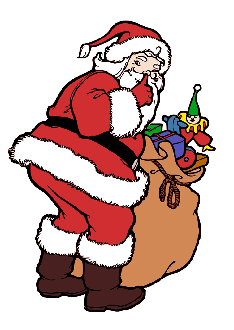 Christmas clip art Santa with gifts