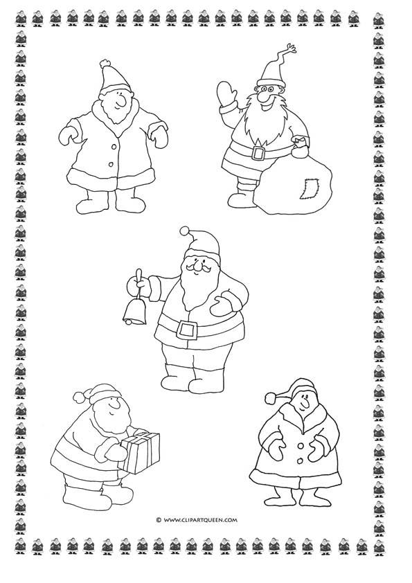 Christmas coloring page Santa Claus motives