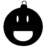 Christmas decoration smiley