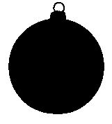 christmas silhouette tree decorations