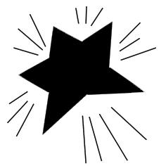 Shining Christmas star silhouette clipart