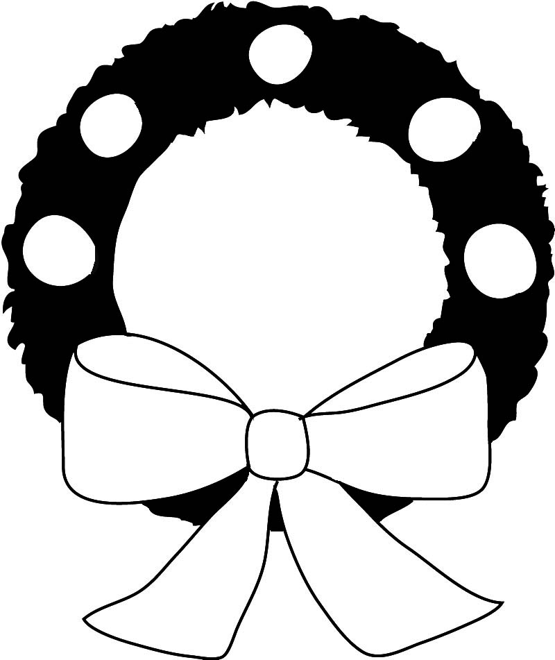 christmas wreath silhouette wreath silhouette - Black And White Christmas Clip Art