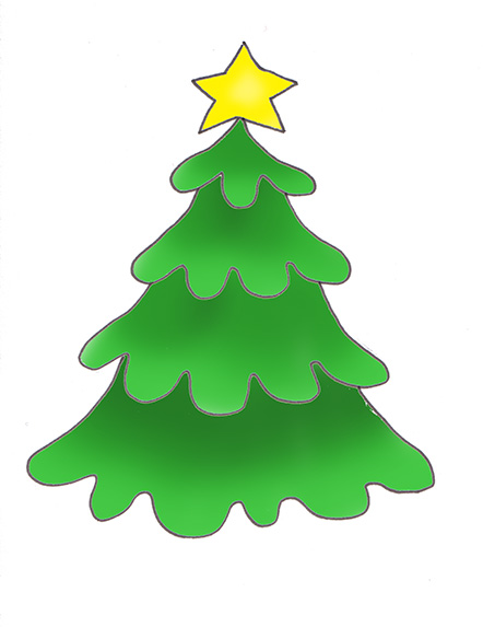 Retro Christmas Trees Clip Art Stock Illustration - Illustration of unique,  clipart: 3440188