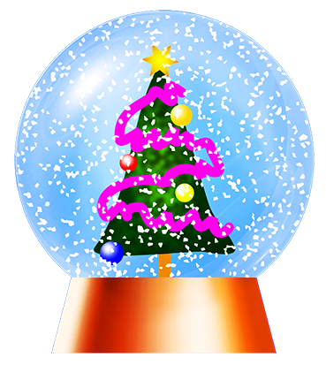 Christma snow globe with tree