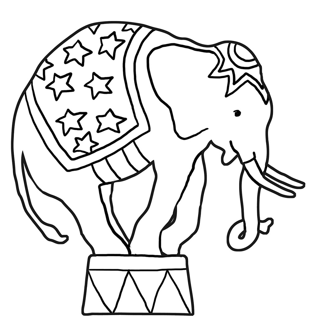 Funny elephant coloring pages for Elephant coloring pages