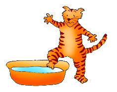 cat clip art cat taking a bath