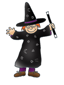 Girl as halloween witch
