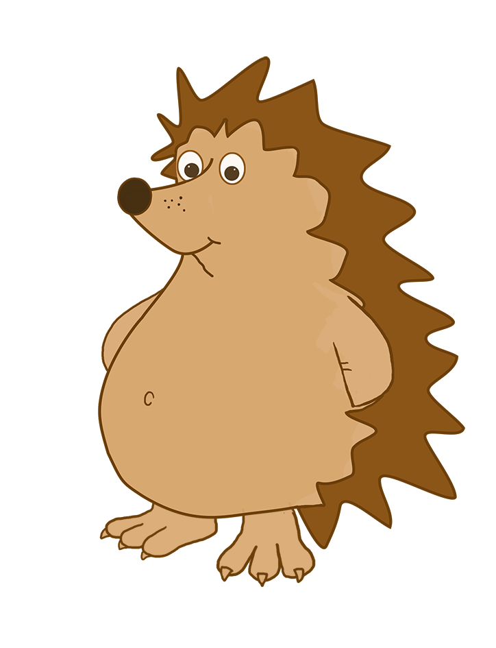 cartoon hedgehog clipart