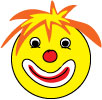 funny clown smiley face