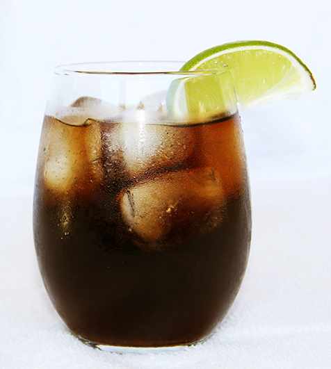 cola and ice drink