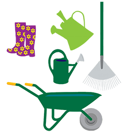 collection of garden tools clipart png