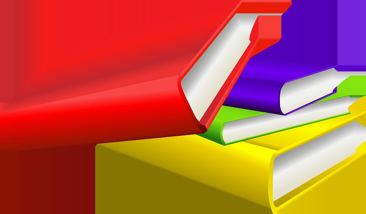 colored books clipart