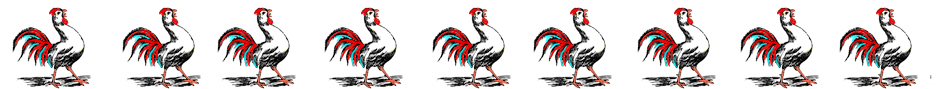 colored Rooster border