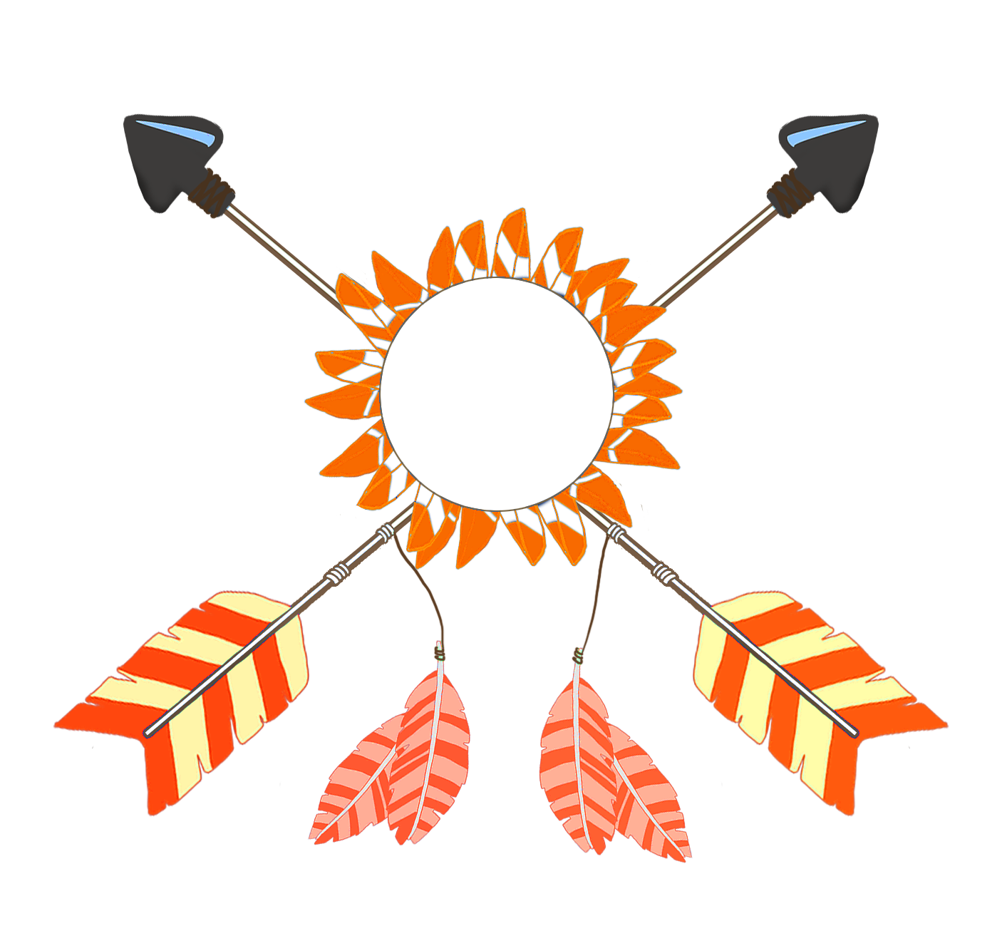 tribal crossed arrows graphic