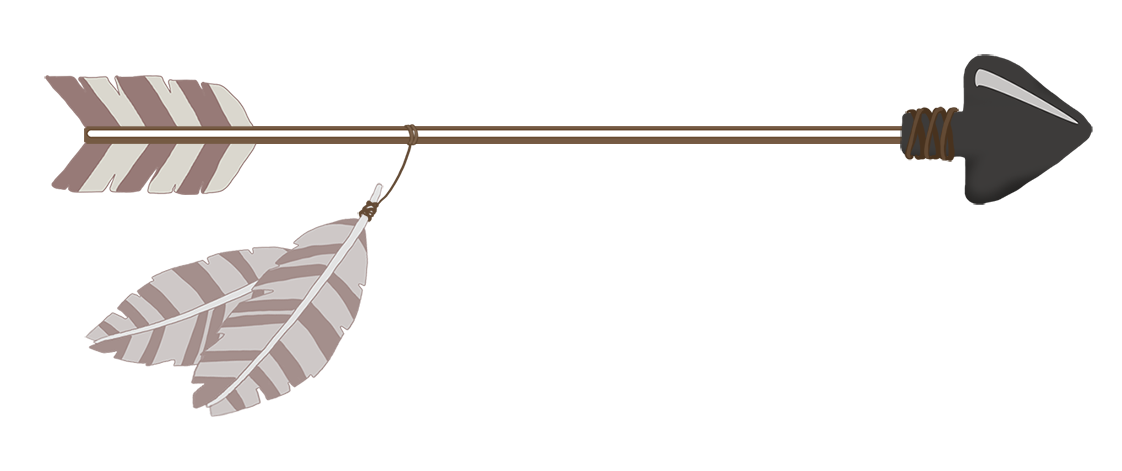 brown tribal arrow clipart