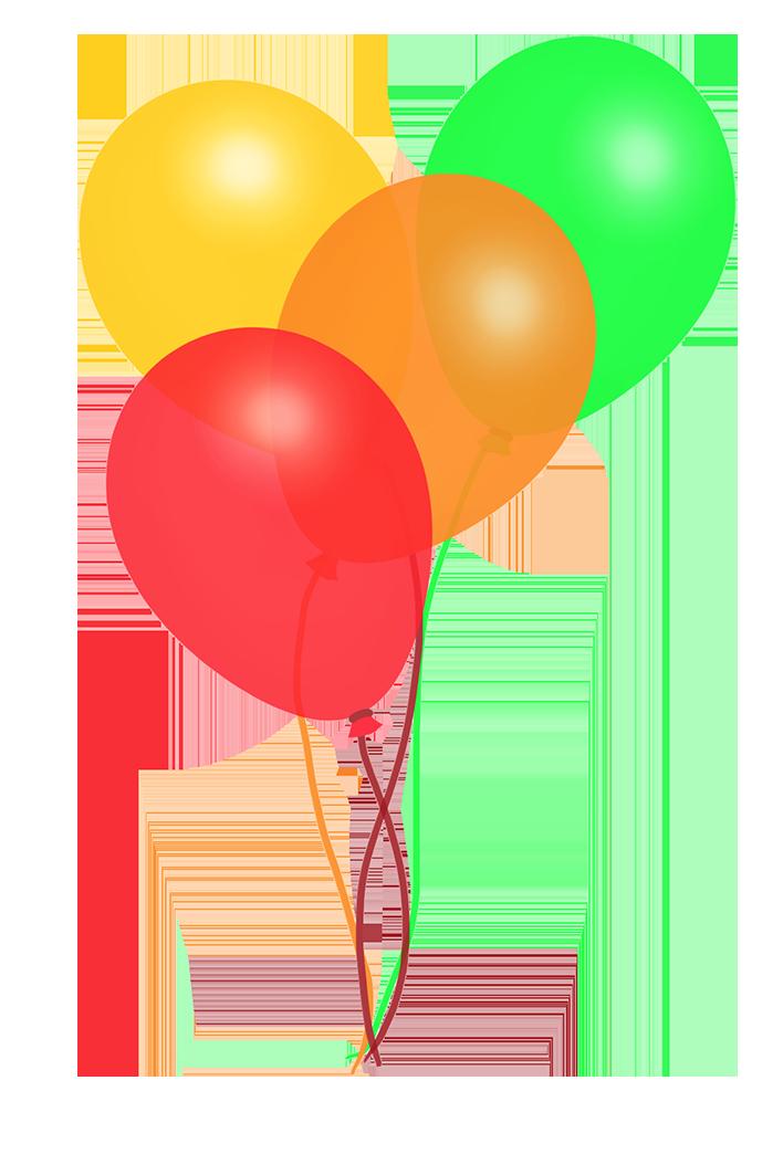rainbow balloons colorful