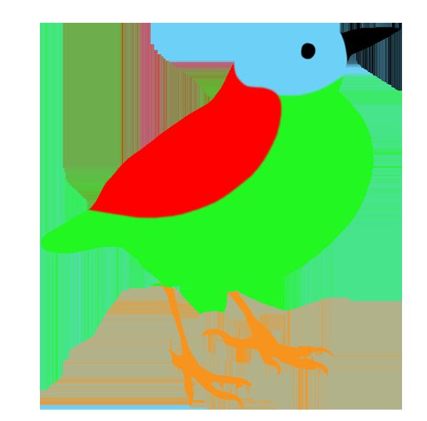 colorful bird silhouette