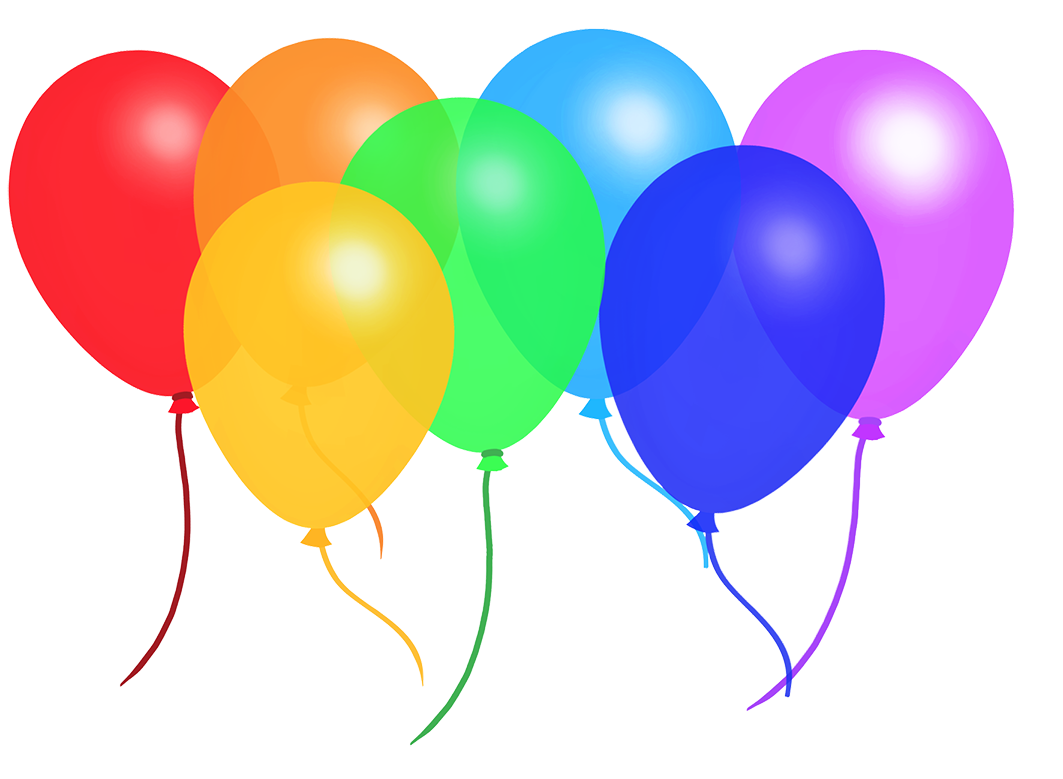 colorful rainbow balloons