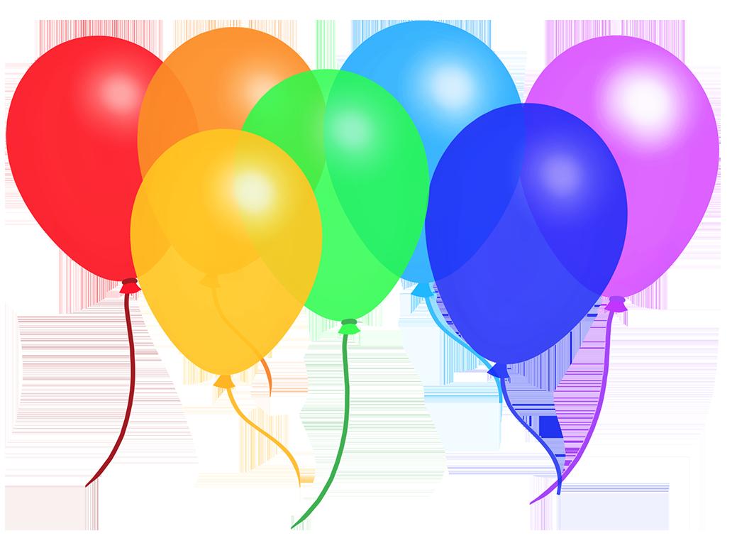 colorful rainbow balloons
