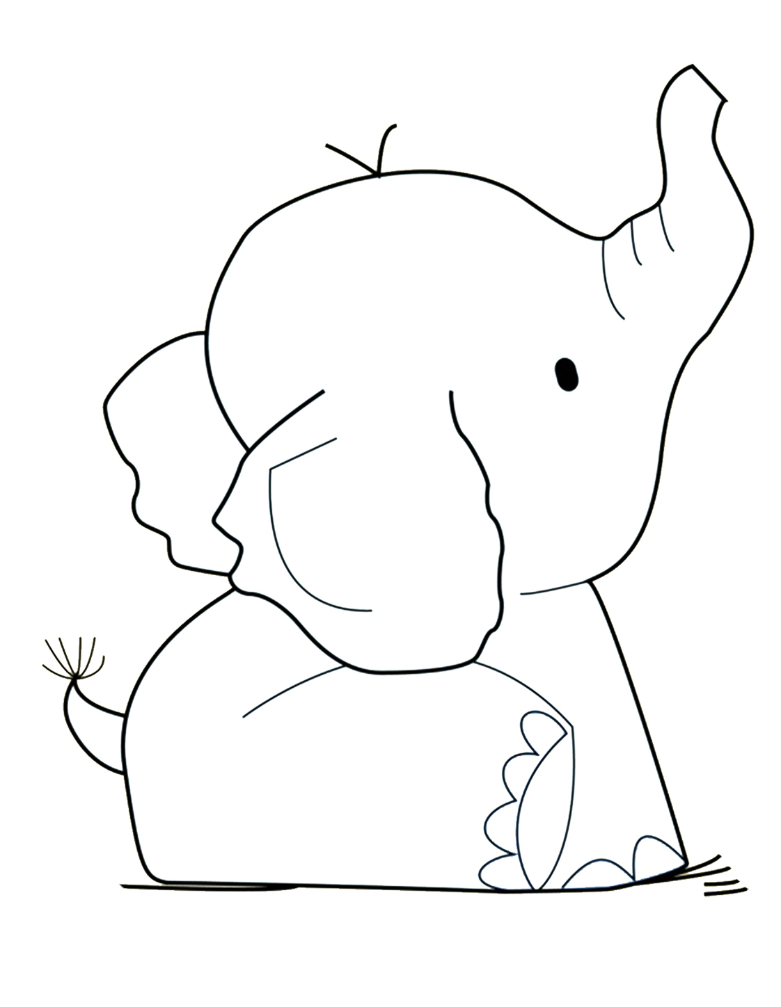 - Elephant Coloring Book Pages Haramiran