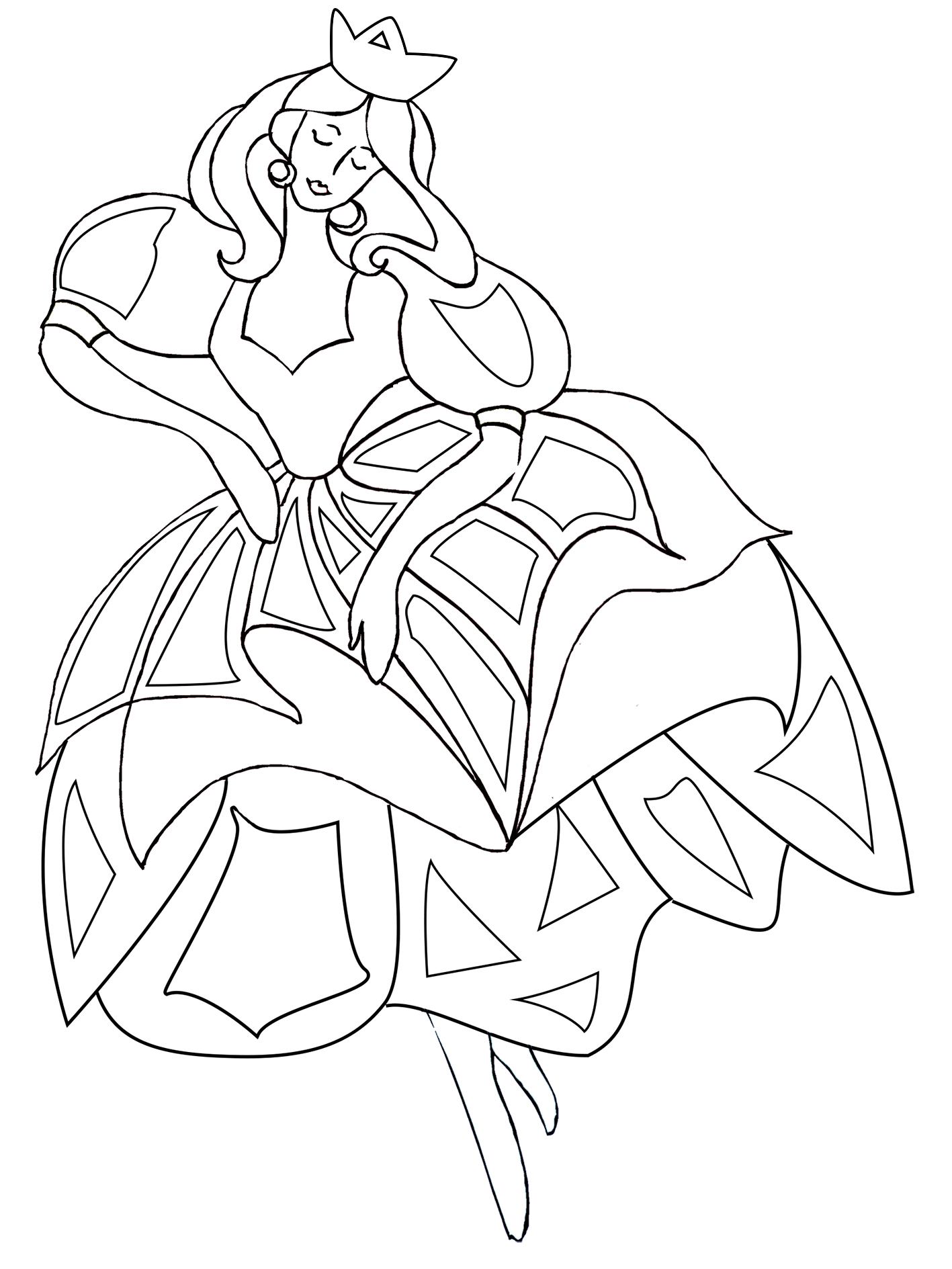 dancing princess coloring pages