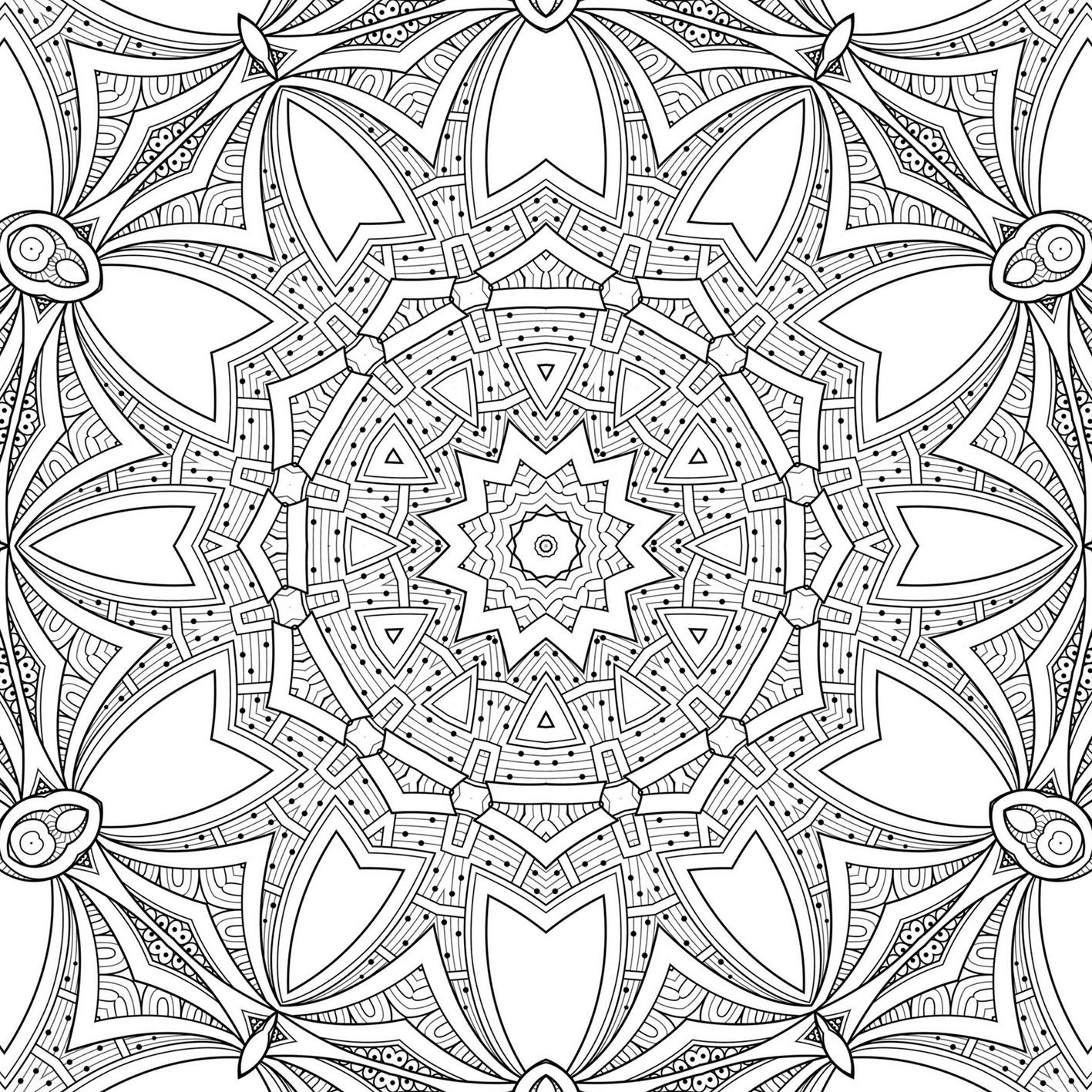 mandala-ish coloring page