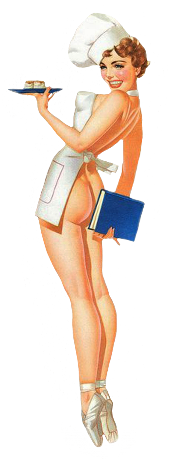 funny sexy vintage pin-up cook