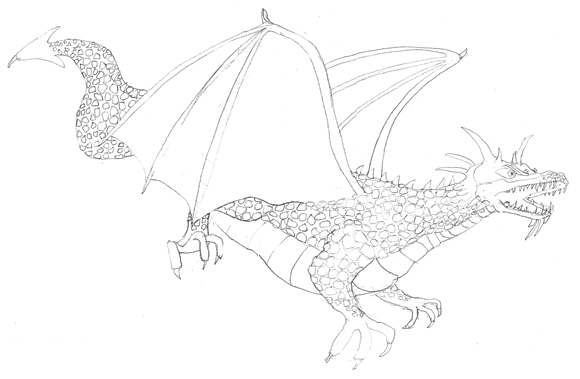 dragon drawings flying dragon
