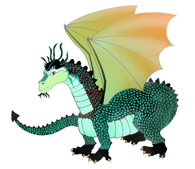 cool dragons clip art