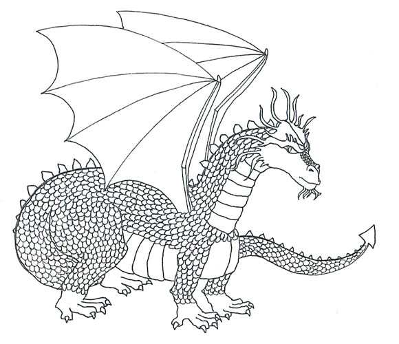 cool dragons sketch scaled dragon