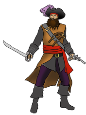cool drawing of black beard pirate