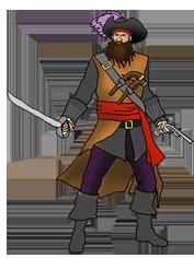 cool drawing of black beard pirate