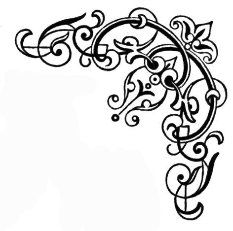 swirl corner ornament