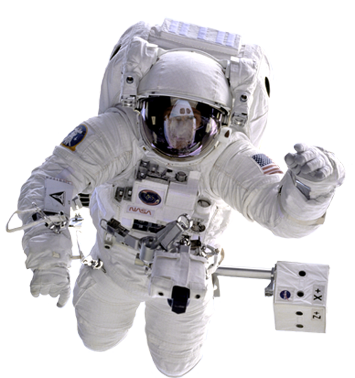 cosmonaut in outer space clip art