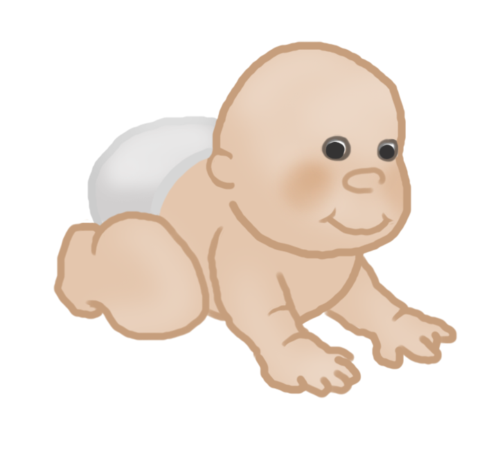clipart crawling baby
