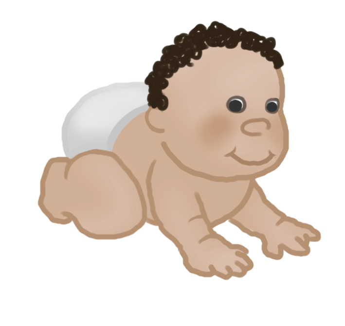crawling baby clipart 4