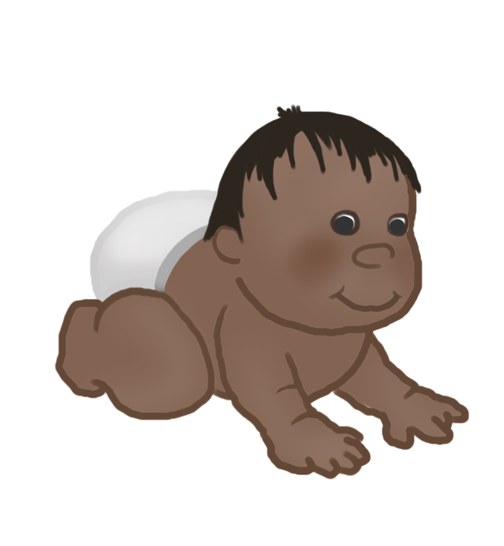 baby clipart crawling baby 8