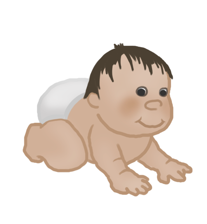 baby clipart crawling baby 9