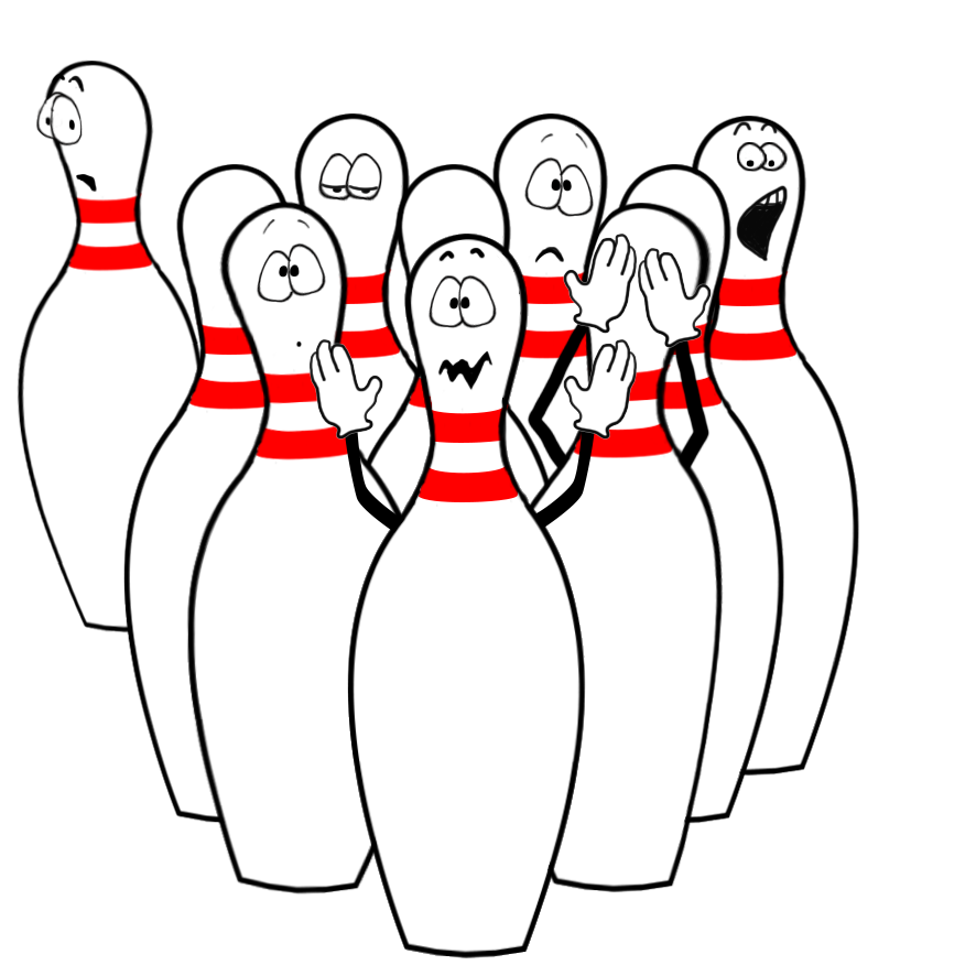 funny bowling clipart