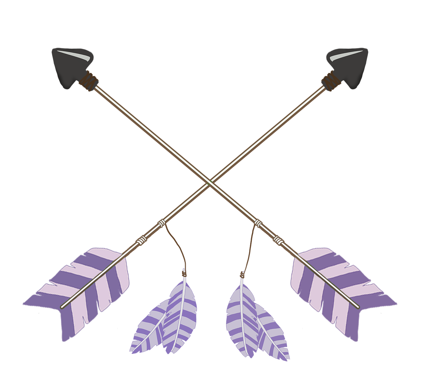 tribal arrows purple crossed