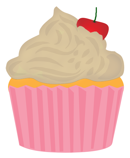 cupcake for tea or coffe clipart